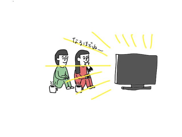 テレビを見ている絵