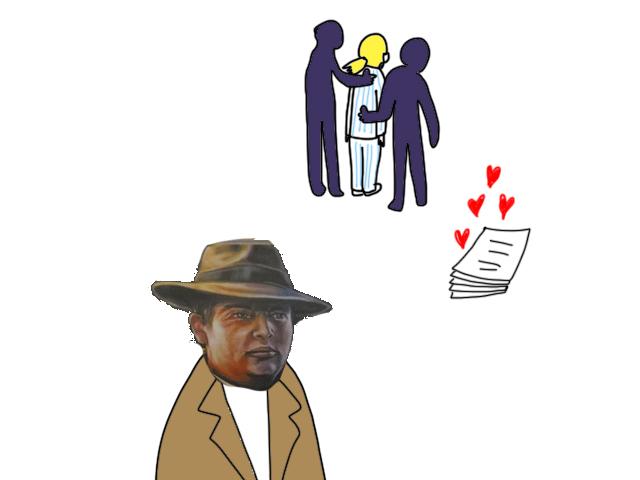 ボードゲームイラスト 真夜中の探偵