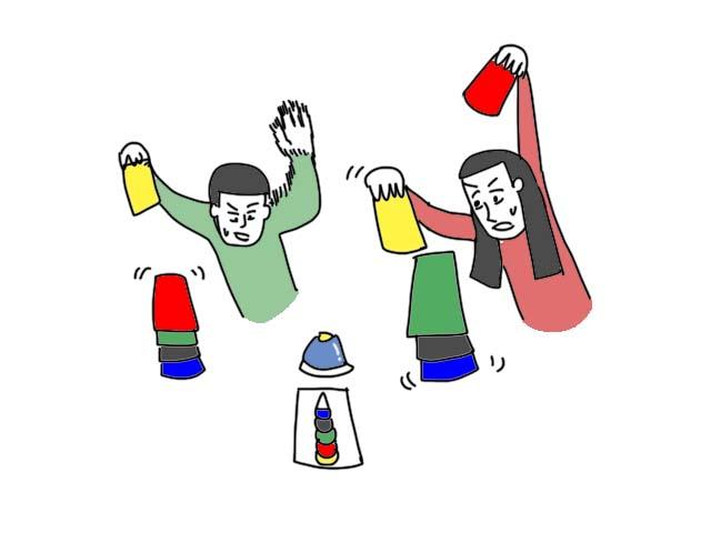 スピードカップ ボードゲーム イラスト