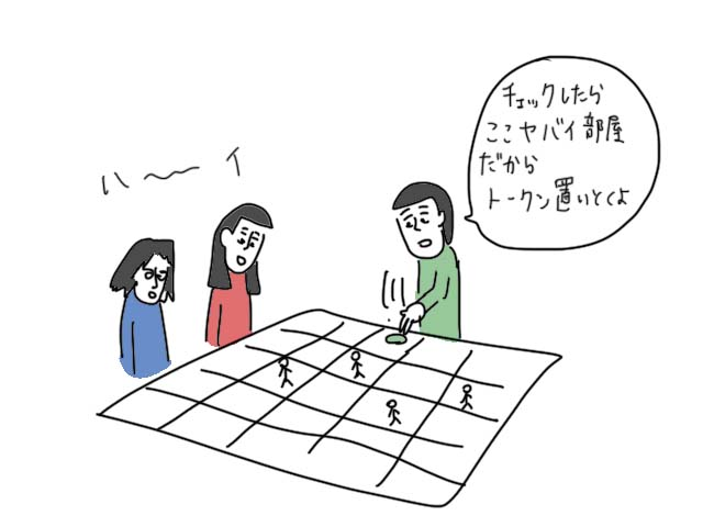 ルーム25 ボードゲーム イラスト