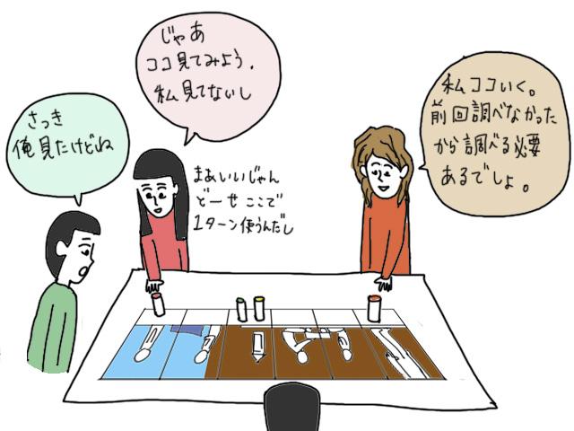タイムストーリーズ ボードゲーム イラスト