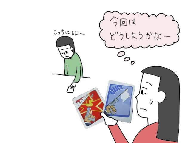 キャッシュアンドガンズ ボードゲーム イラスト
